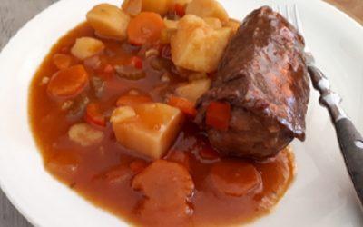Rindsroulade (Fleischvogel) im Slow Cooker (Instant Pot)