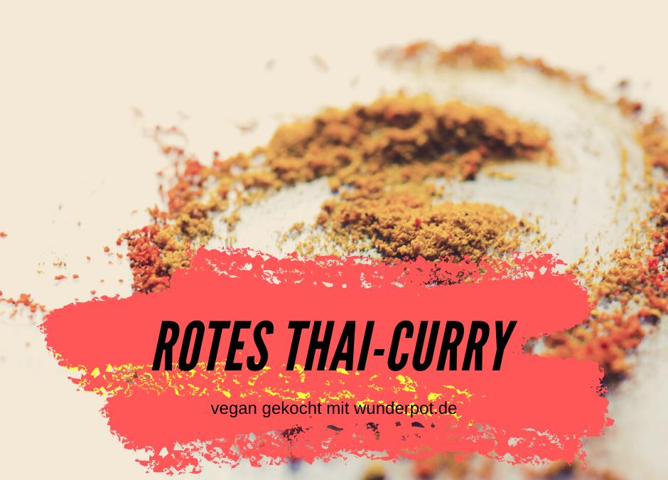 Rotes Thai-Curry mit Tofu